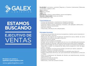 Buscamos Ejecutivo de ventas Galex